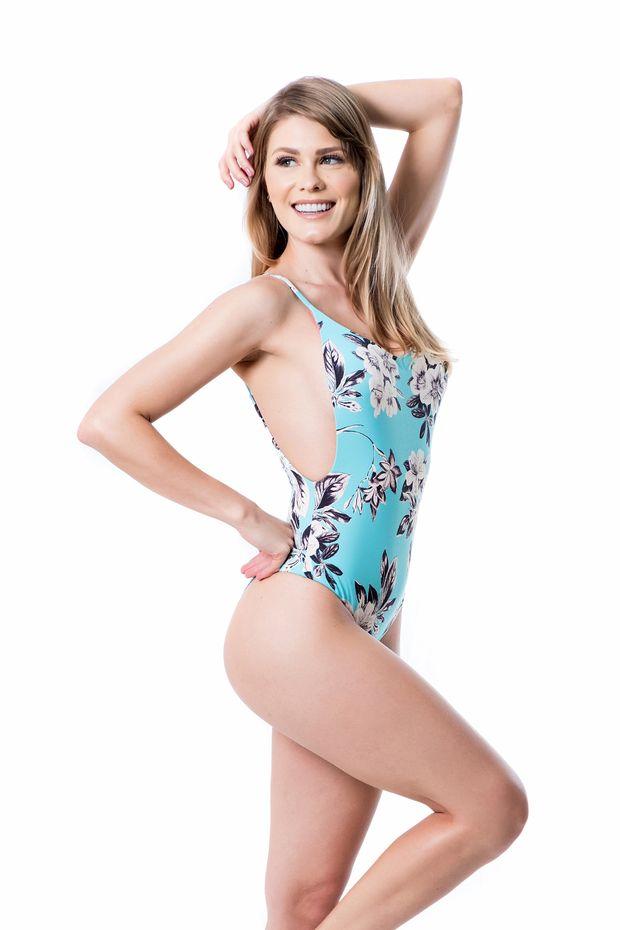 27e826326 Penelope_Floral_Turquesa_Lateral_L. Comprar · Maiô dupla face decote  traseiro Penélope Floral Azul ...